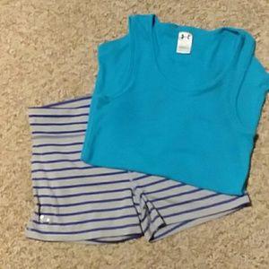 UNDER ARMOUR shorts/tank